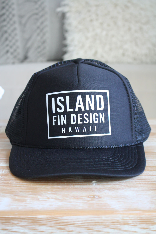 Island Fin Designs Trucker Cap - Black - Soul Surf